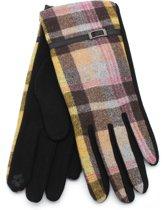 Handschoenen met Ruit - Dames - Touchscreen Tip - Bruin - Dielay