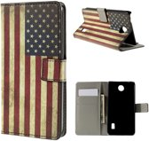 Huawei Ascend Y635 book case hoesje USA vlag