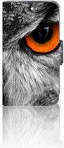 Huawei Y360 Uniek Boekhoesje Uil Met Opbergvakjes
