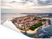 Luchtfoto van Fort Galle in het Aziatische Sri Lanka Tuinposter 160x120 cm - Tuindoek / Buitencanvas / Schilderijen voor buiten (tuin decoratie) XXL / Groot formaat!