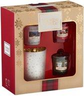 Yankee Candle Alpine Christmas 3 Votive & 1 Holder