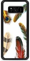 Galaxy S8 Plus Hardcase Hoesje Feathers World