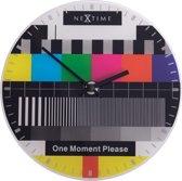 NeXtime Little Testpage - Klok - Testbeeld - Rond - Glas - Ø20 cm - Multicolor
