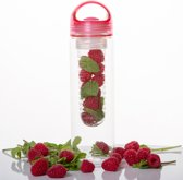 Friska Waterfles met Fruit Filter - Roze - 700ml - Bevat 0 calorieën