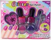 Kinder Glitter Nagellak - Nagellak voor Kinderen - 2 stuks - 5ml