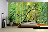 Green | Yellow Photomural, wallcovering
