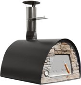 Pizza houtoven zwart