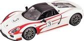 Porsche 918 Racing - RC - Raceauto - 1:14 - Wit/Rood