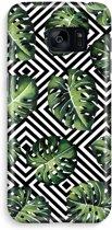 Samsung S7 Edge Volledig Geprint Hoesje (Hard) - Geometrische jungle