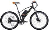 SachsenRad EBike/Elektrische fietsen R6, 240W motor, 26-inch, 7-versnellingen derailleur, mechanische schijfrem, Kenda wide band, zwart