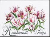 Thea Gouverneur Borduurpakket 447 Rembrandt Tulpen - Linnen stof