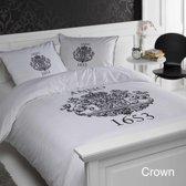 Papillon Crown - dekbedovertrek - eenpersoons - 140 x 200/220 - Wit