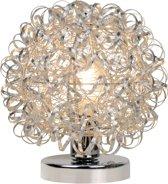 Lucide NOON - Tafellamp - Ø 25 cm - E27 - Mat chroom