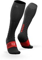 Compressport Full Socks Race & Recovery Zwart Unisex Compressiekousen