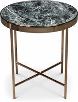 Lanterfant® Evi - Bijzettafel - Rosegold - Zwart - Marmer-look tafelblad