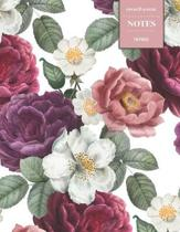 Cornell System Notes: 110 Pages - Vintage Floral Notebook for Professionals and Students, Teachers and Writers - Perfect for High-School or