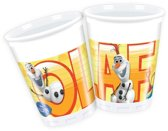 Disney Frozen olaf feestbekers 200ml 8 stuks