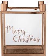 Bloomingville Kerst - Kubus Kaarsenhouder - Metaal - Koper