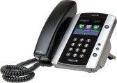 VVX 500 12-line Business Media Phone HD - VoIP - Zwart/Zilver