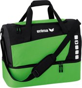 Erima Club 5 Line Sporttas met Bodemvak Medium - Green/Zwart