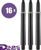 ABC Darts Shafts - Zwarte nylon dart shafts - medium - 16 sets