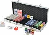 Pokerset met Koffer 500 Laser Chips - Poker chips set - Pokerset Alumunium Koffer