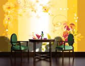 Yellow Photomural, wallcovering