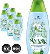 Schwarzkopf Nature Moments Coconut Water Shampoo 200 ml  - 6 stuks - Voordeelverpakking