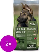 Pets Place Naturals Puppy Large Breed Kip - Hondenvoer - 2 x 5 kg