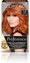L'Oréal Paris Préférence Haarverf - 7.4 Intens Koperrood - Color extender