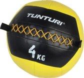 Tunturi Wall Ball - Medicine ball - Crossfit ball - 4kg - Geel