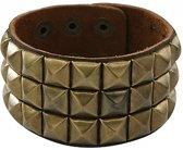 Punk armband goud