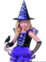 Heksenjurk paars/zwart voor meisje maat 140