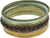 Vintage bangle armbanden set multi-color