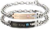 His Queen Her King armbanden set