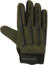 Finger Bone Gloves zwart/groen