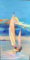 Schilderij Fantasie Sailing