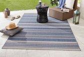 Binnen & buiten vloerkleed Strap - blauw 80x150 cm