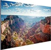 Grand Canyon Cape Royal  Aluminium 180x120 cm - Foto print op Aluminium (metaal wanddecoratie) XXL / Groot formaat!