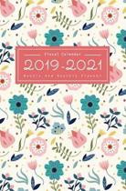 Fiscal Calendar 2019-2021: Weekly & Monthly Planner 2 Year Calendar Schedule, Grid Notes, No Holiday For Everyone Write In, Colorful Tropical Flo