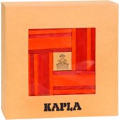 Kapla 40 Stuks met Boek - Rood/Oranje