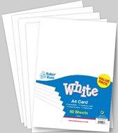 Voordeelpakket wit A4-karton  (50 stuks per verpakking)