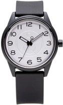 Q&Q Smile Solar 651000 horloge 50 meter 40 mm zwart/ wit