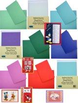 Dubbele Kaarten Set - 40 Stuks - 10 Kleuren - Met enveloppen - Maak wenskaarten voor elke gelegenheid