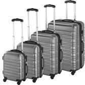 TecTake - kofferset 4 delig , ABS hardshell, kleur grijs - 402025