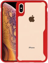 Focus Transparant Hard Cases iPhone XS Max Rood