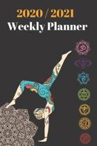 2020 & 2021 Weekly Planner - Yoga Notebook - Agenda for New Year Planning, To-Do Lists, Job Tasks, Appointment Book for Yogi: 24 Month Calendar Notebo