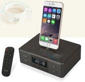 Universale Dock Speaker met Bluetooth, NFC, FM en Wekker (D9-Zwart)