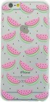Watermeloen hoesje transparant iPhone 6 Plus en 6s plus TPU silicone Fruit Doorzichtige cover meloen