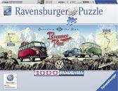 Ravensburger puzzel VW Bulli op Brennerpas - panorama - Legpuzzel - 1000 stukjes